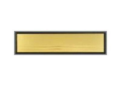 Briefeinwurf - Gold-glänzend