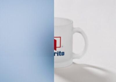 Milchglas blau